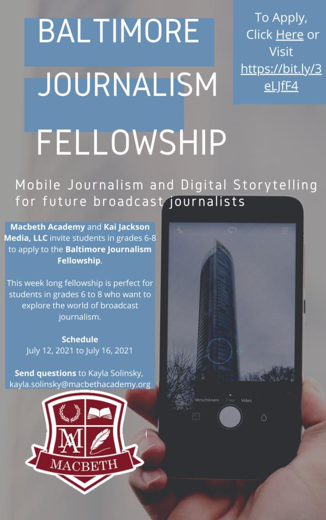 Baltimore Journalism Fellowship